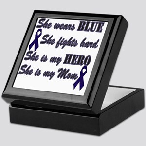 She is Mom Blue Hero Keepsake Box