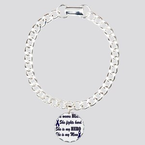 She is Mom Blue Hero Charm Bracelet, One Charm