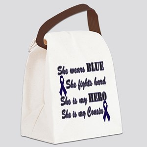 She is Cousin Blue Hero Canvas Lunch Bag