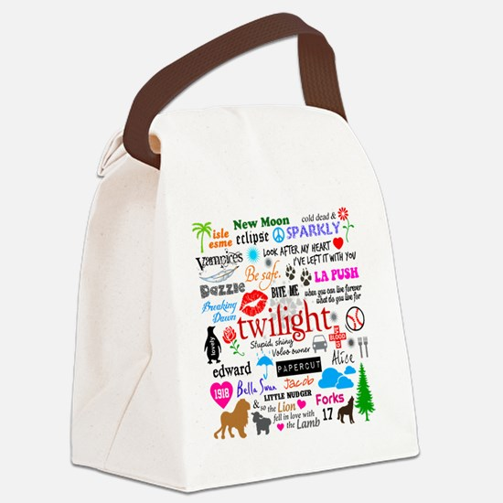 Twilight Mem Tile Canvas Lunch Bag
