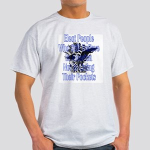 americaneagleandflagstras3 Light T-Shirt