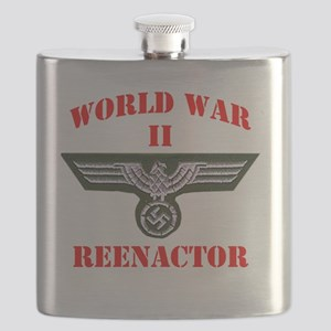 WWII german tshirt3 Flask