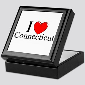"""I Love Connecticut"" Keepsake Box"