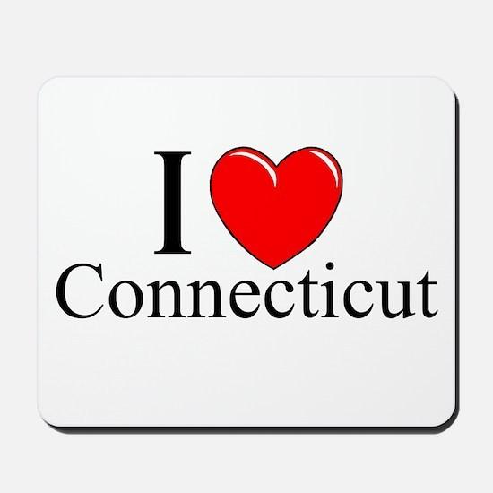 """I Love Connecticut"" Mousepad"