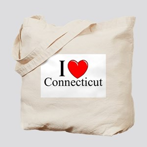 """I Love Connecticut"" Tote Bag"