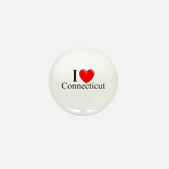 """""""I Love Connecticut"""" Mini Button"""