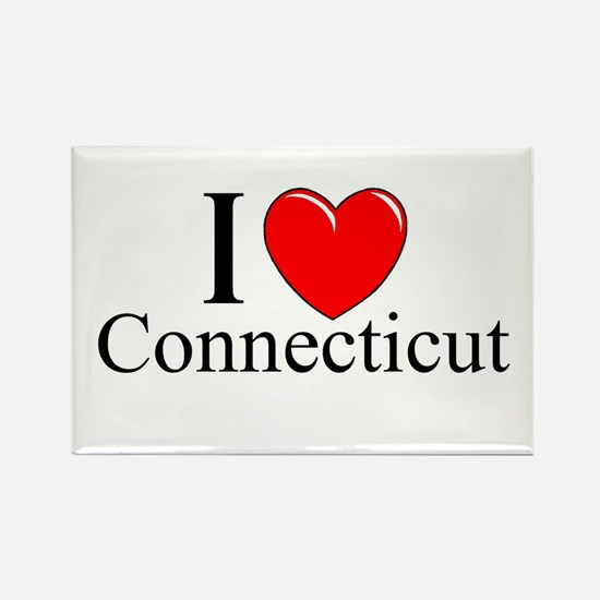 """I Love Connecticut"" Rectangle Magnet"