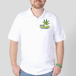 Cannabis BBtn Golf Shirt