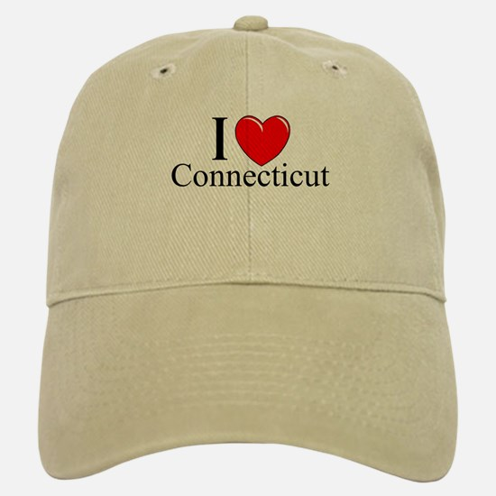 """I Love Connecticut"" Baseball Baseball Cap"