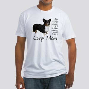 Corgi Mom Fitted T-Shirt