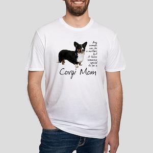 Corgi Mom Fitted T-Shirt