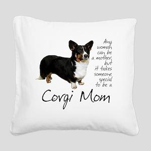 Corgi Mom Square Canvas Pillow