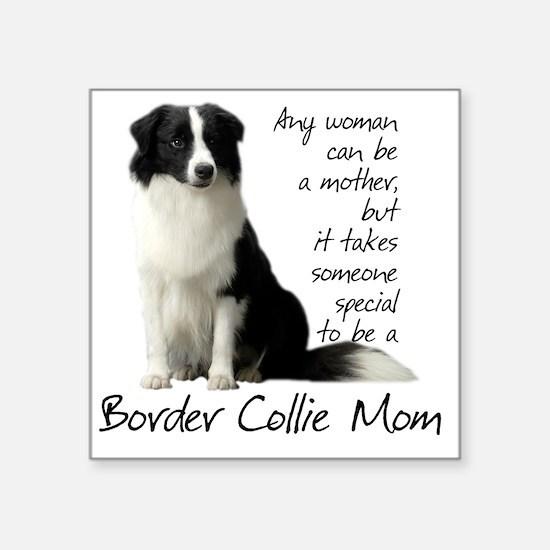 """Border Collie Square Sticker 3"""" x 3"""""""
