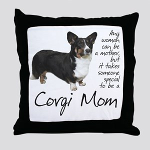 Corgi Mom Throw Pillow