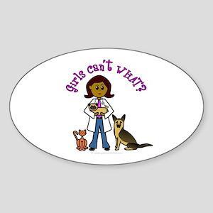 Dark Veterinarian Oval Sticker