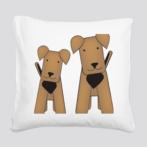 airedales_cafepress Square Canvas Pillow