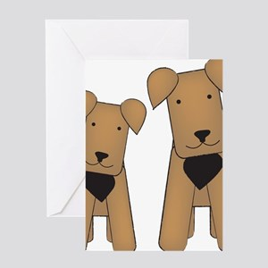 airedales_cafepress Greeting Card