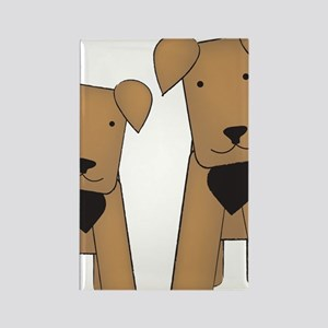 airedales_cafepress Rectangle Magnet