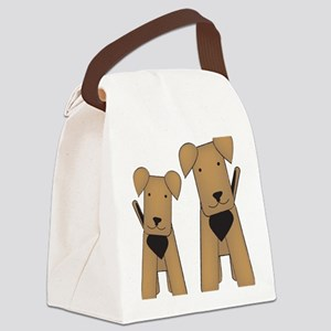 airedales_cafepress Canvas Lunch Bag