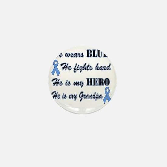 He is Grandpa Lt Blue Hero Mini Button