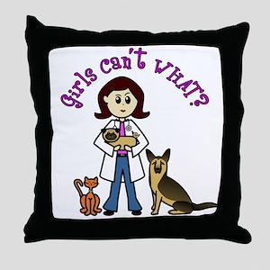 Light Veterinarian Throw Pillow