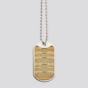 Boyes Largest Rules Poster Dog Tags