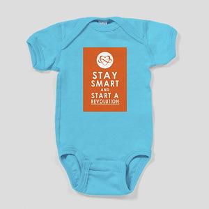 LOVE REVOLUTION Pumpkin Orange Baby Bodysuit