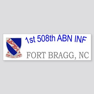 1st Bn 508th ABN Cap1 Sticker (Bumper)