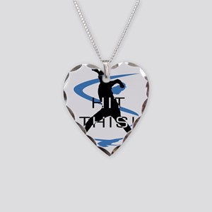 Baseball 16 Necklace Heart Charm