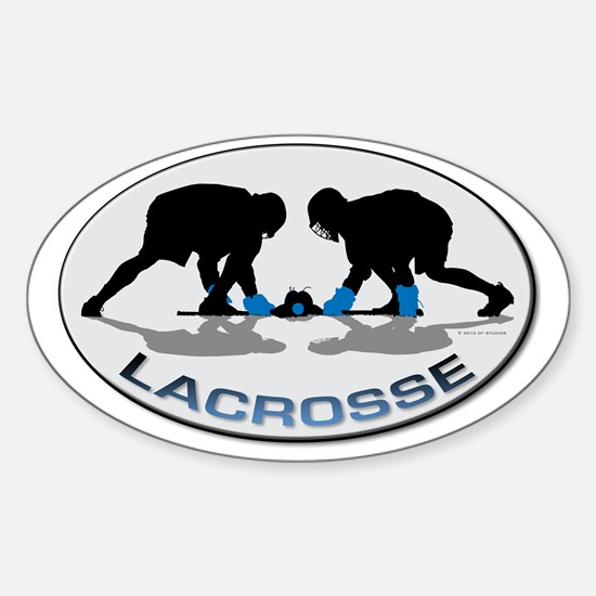 Lacrosse 36 Sticker (Oval)