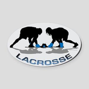 Lacrosse 36 Oval Car Magnet