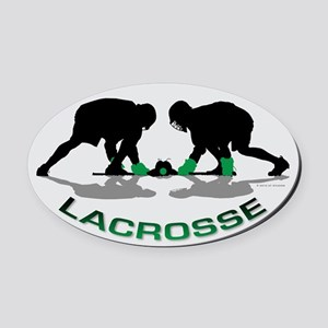 Lacrosse 35 Oval Car Magnet
