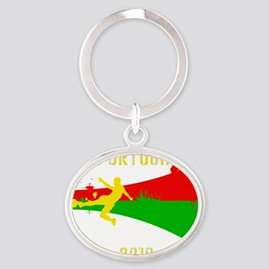 Portugal copy Oval Keychain