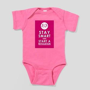 LOVE REVOLUTION Plum Pink Baby Bodysuit