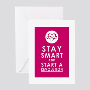 LOVE REVOLUTION Plum Pink Greeting Card