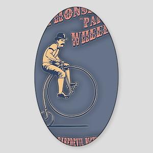 antique-wheelie-show-CRD Sticker (Oval)