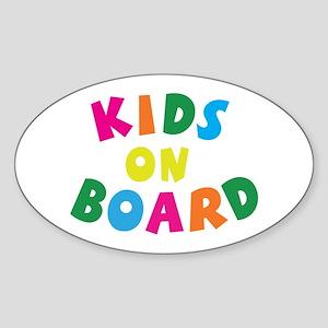 Kids on Board Oval Sticker