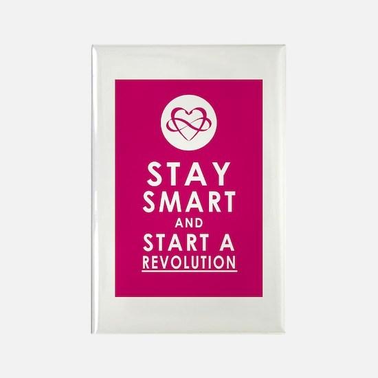 LOVE REVOLUTION Plum Pink Rectangle Magnet