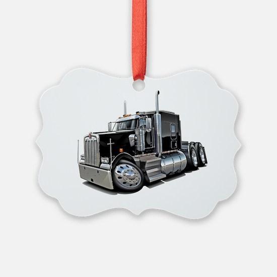 Kenworth w900 Black Truck Ornament