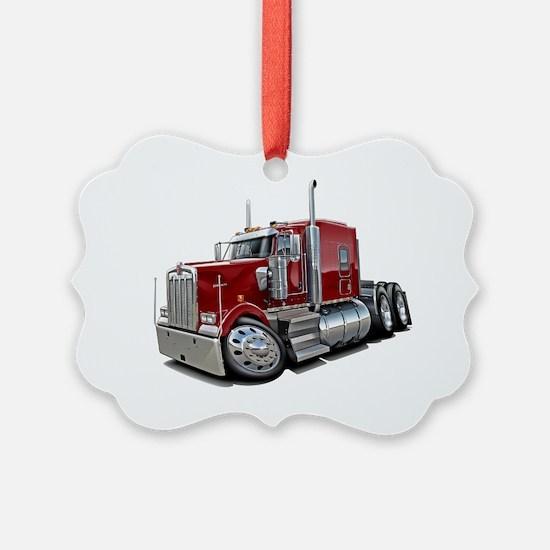 Kenworth w900 Maroon Truck Ornament