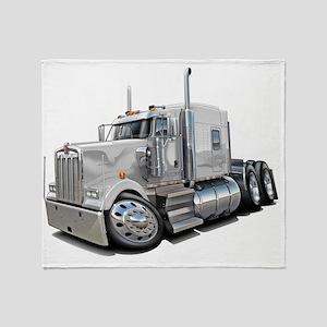 Kenworth w900 White Truck Throw Blanket