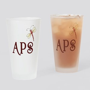 Living with APS - Dragonfly Drinking Glass
