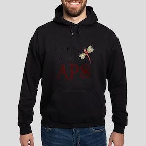 Living with APS - Dragonfly Hoodie (dark)