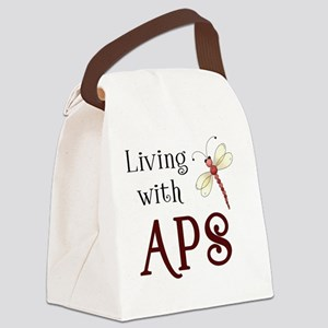 Living with APS - Dragonfly Canvas Lunch Bag