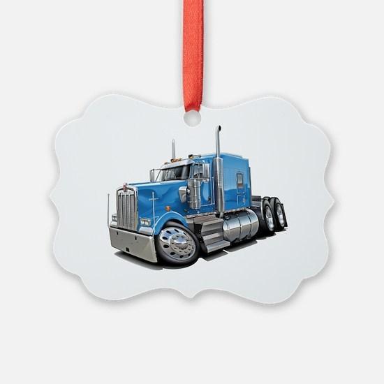 Kenworth w900 Lt Blue Truck Ornament