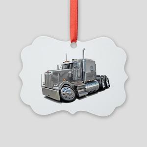 Kenworth w900 Silver Truck Picture Ornament
