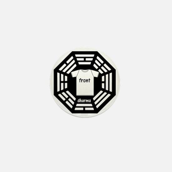 dharma tee front copy Mini Button