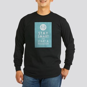 LOVE REVOLUTION Saffron Long Sleeve Dark T-Shirt