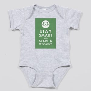 LOVE REVOLUTION Olive Green Baby Bodysuit