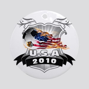 USA World Cup 2010 Round Ornament